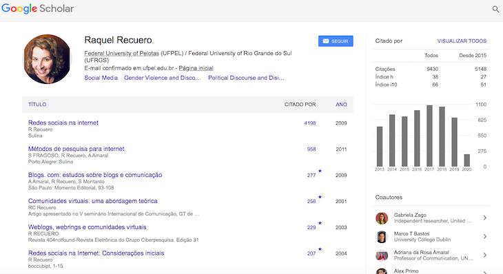 Página do autor no Google Acadêmico.