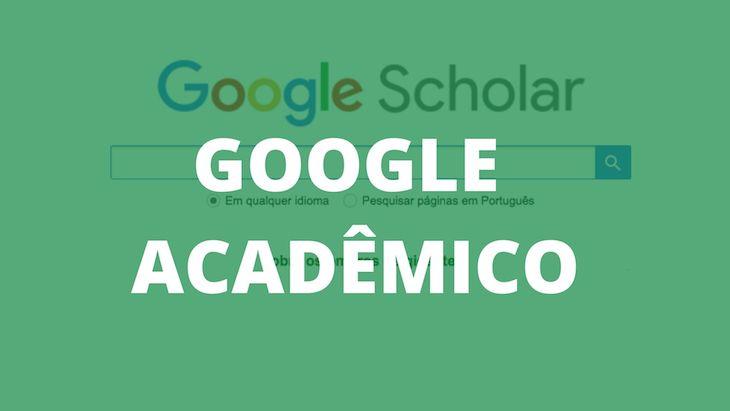 Página inicial do Google Acadêmico.